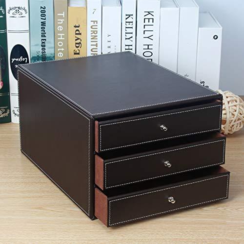 FPigSHS Cassettiera 3 Piano Portafogli Rack scaffali Porta Dati A4 Scatola portaoggetti Porta riviste Scaffale per rifinitura Scaffale Legno Studio Ufficio (Colore : B)