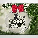 BYRON HOYLE Adorno de Navidad con diseño de pelota de tenis