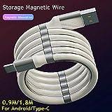 Weimei Cable Micro USB Carga RáPida y Transferencia de Datos Para IOS/Type-C/Android (Compatible Con Todos Los Modelos De TeléFonos MóViles (0.9m)
