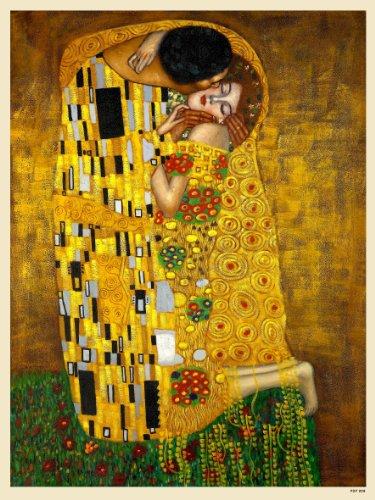 onthewall El Beso de Gustav Klimt Art Nouveau Póster 40x 30cm (PDP 009)