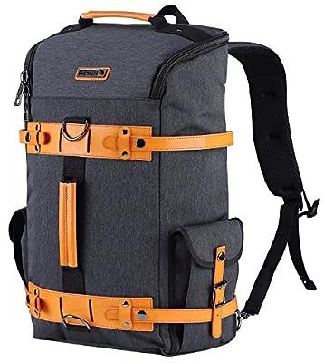 WITZMAN Vintage Outdoor Travel Rucksack Casual College Backpack Laptop Bag