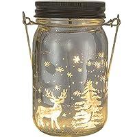 Umora願いボトル LEDライト 星空 置物 装飾ランプ ガラス 電池式 ギフト バレンタインデー 記念日 誕生日 ウォームライト(スムーズ 鹿)