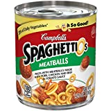 Campbell's SpaghettiOs Canned Pasta, With Meatballs, 7.25 oz. Can (Pack of 24)...