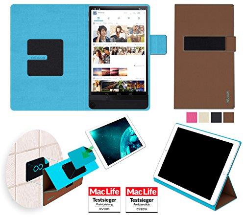 reboon Hülle für Dell Venue 8 7000 Tasche Cover Case Bumper | in Braun | Testsieger