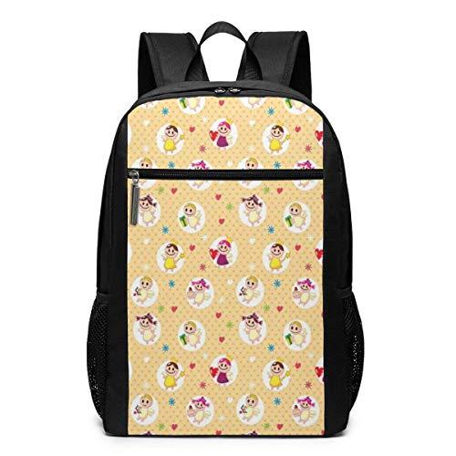 AOOEDM Bolsa para la Escuela Backpack 17 Inch - Mochila para portátil Escolar de 17 Pulgadas, Infantil, guardería, niños, Amor materno, Sala de Juegos, diseño de Lunares para niños pequeños, Mochila