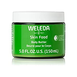 Weleda Skin Food Body Butter, 5 Fluid Ounce, Sustainable Glass Jar, Plant Rich Moisturizer with Shea and Cocoa Butter, Sweet Almond Oil and Pansy