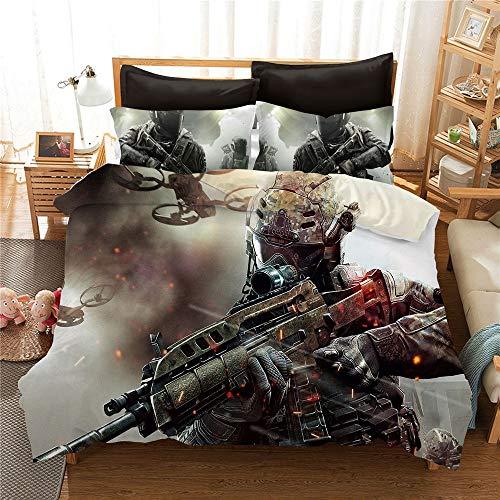 CCBZLY Ropa de cama con impresión digital 3D Call of Duty, fibra...