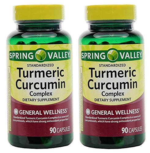 powerful Spring Valley Stndr Turmeric Curcumin Complex Dietary Supplement Capsules, 500 mg, 90 …