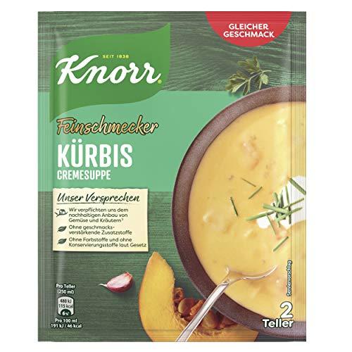 Knorr Feinschmecker Kürbis Suppe (mit nachhaltig angebautem Kürbis), 1er Pack (1 x 52 g)
