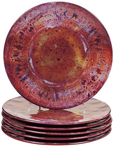 Certified International Radiance Red Melamine 8.5'Salad/Dessert Plate, Set of 6