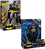 DC Comics, Batman Deluxe, Personaggio in scala da 30 cm con cambio armi o arma Tech, dai 4 anni