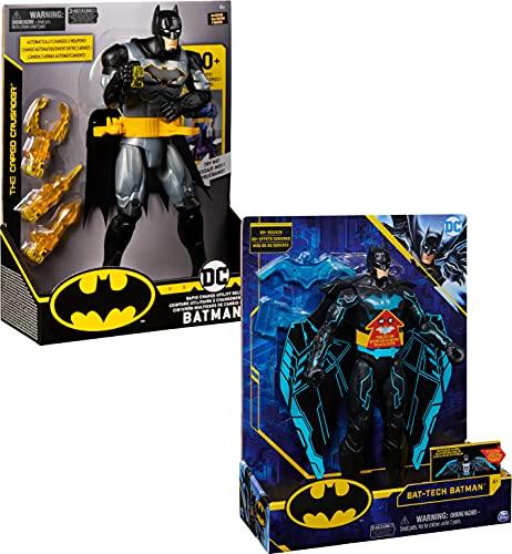 DC Comics Batman Deluxe - Actionfigur mit speziellen Funktionen (Waffengürtel oder Wing-Suit), Licht und Sounds, unterschiedliche Varianten