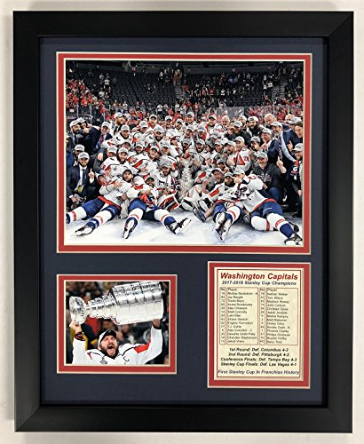 "Legends Never Die Washington Capitals 2018 NHL Stanley Cup Champions Collectible | Framed Photo Collage Wall Art Decor - 12""x15"""