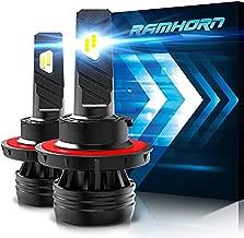 RAMHORN H13 LED Headlight Bulbs,360 Degree Adjustable Beam 10000Lm 6500K Cool White 9008 Conversion Kit of 2