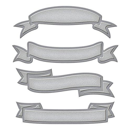 Spellbinders Shapeabilities S4-324 - Lote de Troqueles (4 Unidades), diseño con Forma de Lazo