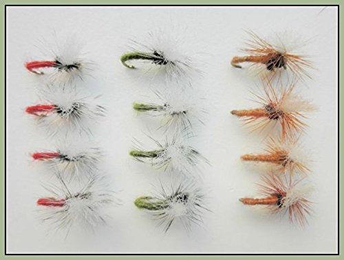 Troutflies UK Ltd Klinkhammer Forellen oder äschen Angeln Fliegen, 12rot, Tan & Olive, Auswahl von Größen erhältlich