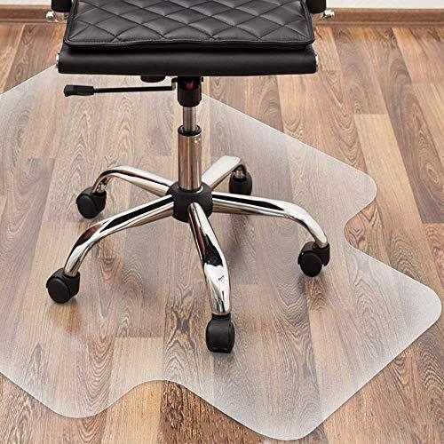 Bodenschutzmatte Bürostuhl Transparent mit Lippe | 120 x 90 cm | Büro oder Arbeitszimmer Schreibtisch Unterlage