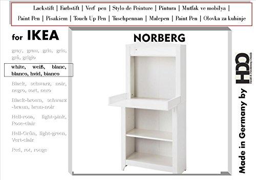 De retoques de la mina touch-up-pen for IKEA norberg - White