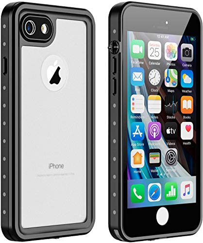 AICase Funda Impermeable iPhone SE 2020/8/7 [Anti-rasguños][Protección de 360 Grados],Case Protectora con Protector de Pantalla Incorporado para iPhone SE 2020/8/7 (Impermeable-2)