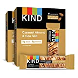 KIND Bars, Caramel Almond and Sea Salt, Gluten Free, 1.4 Ounce Bars, 24 Count