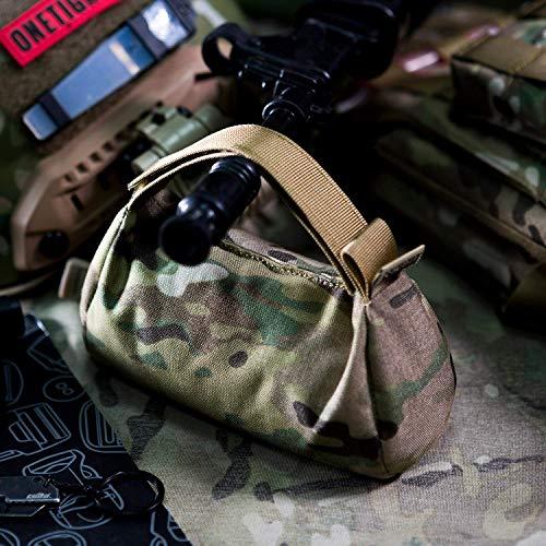OneTigris Befüllte Hinterschaftauflage Gewehrauflage für Jagd Schiessstand (MC) |MEHRWEG Verpackung