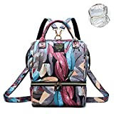 ZUMECA Diaper Bag, Multi-Function Backpack, Waterproof Large Capacity Travel Organizer Baby Bag, Durable and Stylish Nappy Bags for Mom and Dad (Red-White)