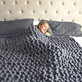 Chunky Knit Blanket – Super Soft Chunky Knit Throw Blanket for Bed...