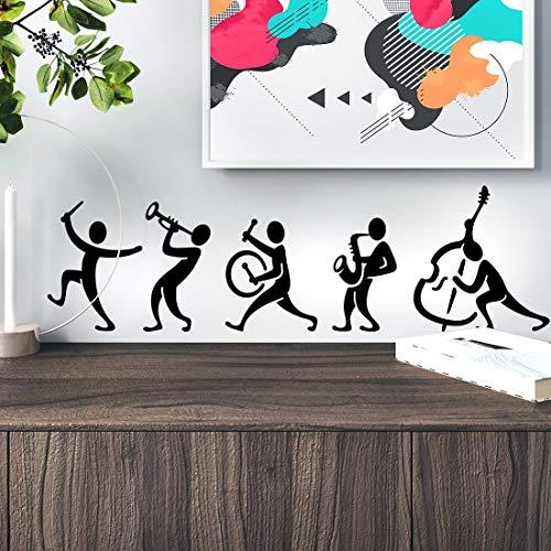 Adhesivo de pared para decoración de habitación, sala de estar, decoración del hogar, vinilo de cocina, dormitorio, papel pintado, notas extraíbles, cita de danza, impresión de tambor musical