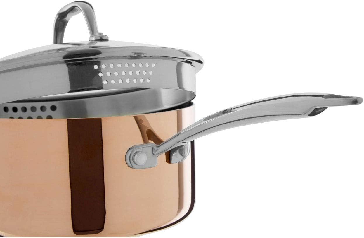 Premier Housewares Saucepan Cooking Pot for Kitchen Stainless Steel Kitchen Set Cooking Pans Cookware Set Stainless Steel Cookware 15 x 37 x 16