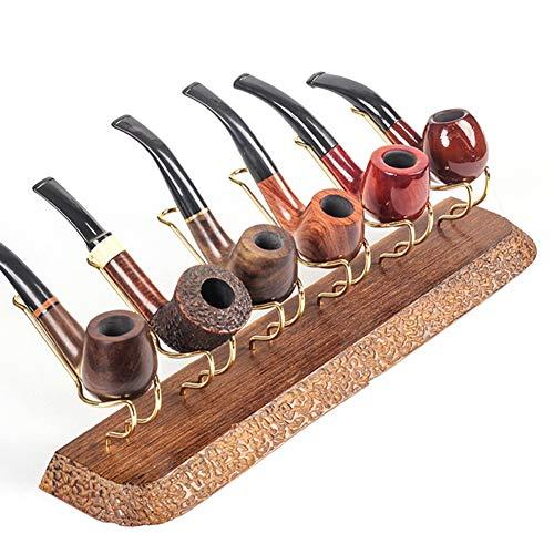 YXZN Espositore per Pipe da Fumo Espositore per Pipe in Legno di Metallo Porta Pipe per Pipe in Legno per Tabacco per Accessori per Pipe di Tabacco (Color2)