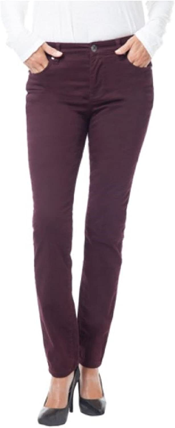 Buffalo David Bitton Ladies Peached Stretch Skinny Pant (14 34, Wine)