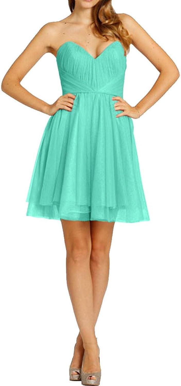 Avril Dress Sweetheart Strapless Empire Cocktail Homecoming Dress Mini Length