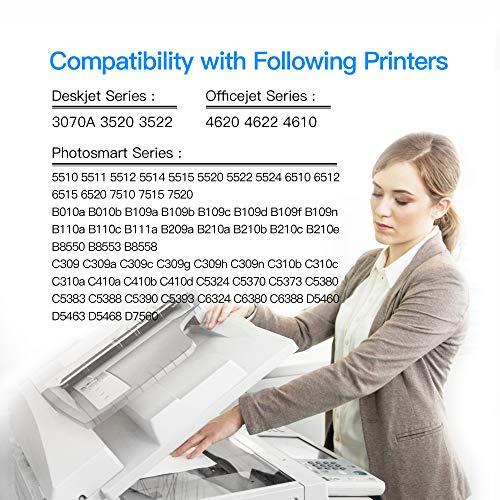 LxTek Reemplazo Compatible para HP 364 364XL Cartuchos de Tinta para HP Photosmart 5520 6520 5510 6510 7510 7520 HP Deskjet 3070A 3520 HP Officejet 4620 4622 (1 Negro, 1 Cian, 1 Magenta, 1 Amarillo)