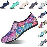 Hombre Mujer Zapatos de Agua Zapatillas de Deportes Acuáticos Playa Escarpines para Swim Buceo Surf Yoga 44/45 EU Costumbres Populares