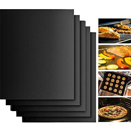 Lamina Antiadherente, papel de horno permanente, 5 piezas 40 x 33 cm - reutilizable, capa antiadhesivo, permanente, se puede lavar en lavavajillas, recortable | folio de horno, papel de horno