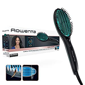 Rowenta CF5820F0 Power Straight - Cepillo especial para cabello muy rizado, con generador de iones y temperatura regulable hasta 200 grados Celsius