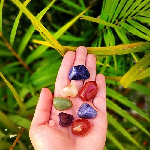 Kit de 7 Pedras Naturais dos Chakras Mandala de Luz P