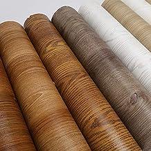 MUMUWU DIY Decor PVC Self Adhesive Wood WallPaper Sticker Home Renovation Sticker Cabinet Table Waterproof Film (Color : 1...