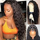 Perstar Water Wave Wig Human Hair Wigs For Women Brazilian Water Wave Lace Front Wigs Human Hair Pre Plucked Lace Front Wigs with Baby Hair Unprocessed Human Hair Wigs Wet and Wavy Lace Front Wigs 10'
