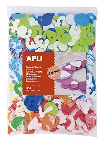 APLI Kids 17438 Números Maxi - Formas de Goma Eva Adhesivas Números, Color Surtido, 500 Uds