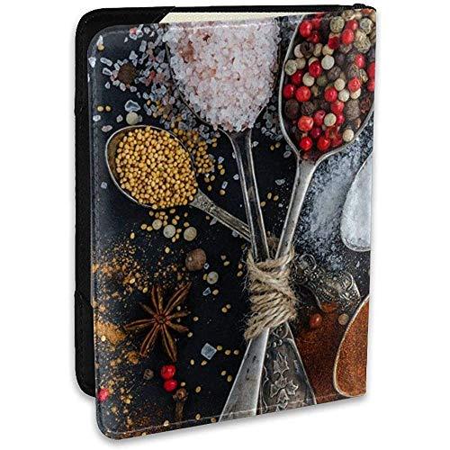 Zout Peper Lepel Mode Lederen Paspoort Houder Cover Case Travel Portemonnee 6.5 in