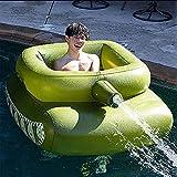 CCDUSE Serbatoio Gonfiabile Anello di Nuoto Piscina Galleggiante Piscina Gonfiabile Giocattolo A Getto d'Acqua con Pistola Ad Acqua Giocattoli Estivi All'aperto per Nuotare in Spiaggia