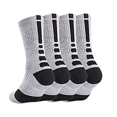 4 Pack Mens Basketball Socks Cushion Athletic Long 05032021021305