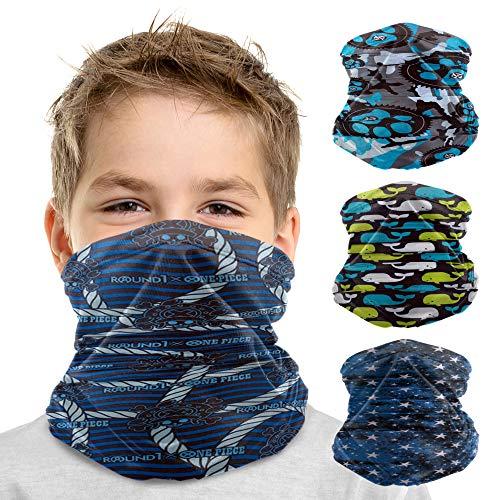 Kids Reusable Neck Gaiter | SHIELDSeal 360 Stretch Barrier Breathable, Soft (4-12) yr old) Kids Bandana Mask