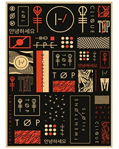 ZYHSB Jigsaw Puzzles 1000 Piezas De Ensamblaje De Madera Imagen Twenty One Pilots Rock Band Poster Juegos para Adultos Juguetes Educativos Xc191Lv