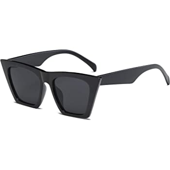FEISEDY Vintage Square Cat Eye Sunglasses Women Fashion Small Cateye Sunglasses B2473