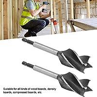 ウッドドリルビット、木工オーガービット、クロームバナジウム鋼ポータブル耐摩耗性密度ボードウッドパネル用