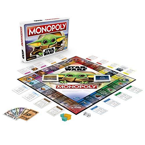 Star Wars The Mandalorian - Monopoly - The Child Unisex Juego de Mesa Standard, Plastico,