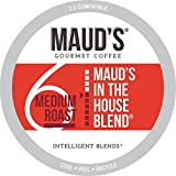 Maud's Medium Dark Roast Coffee (In The House Blend), 100ct. Solar Energy Produced Recyclable Single Serve Medium Dark Roast Coffee Pods – 100% Arabica Coffee California Roasted, KCup Compatible