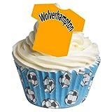 12 camisetas de fútbol comestibles - Wolverhampton